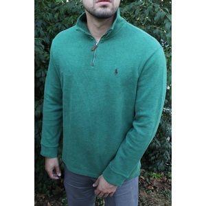 Green Polo half zip
